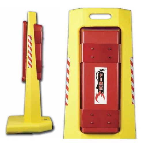 Centurion Portable Fire Extinguisher Stand Made Of Polyethylene For 10 And 20 Lb Extinguishers